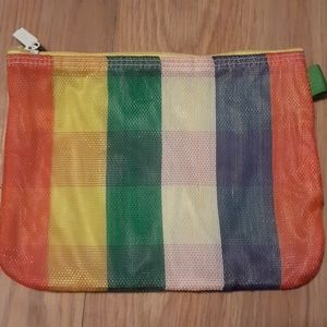 Rainbow clinique makeup bag